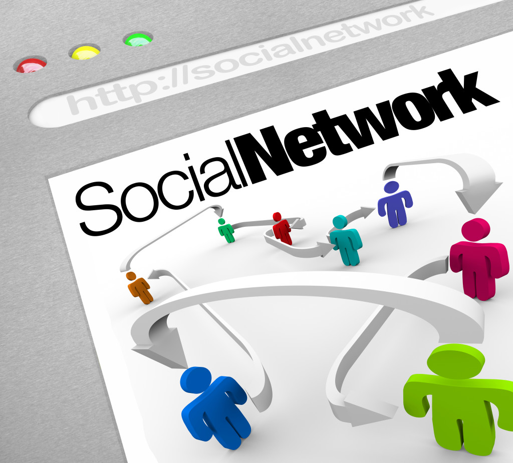 Social Network on Internet People Connected by Arrows